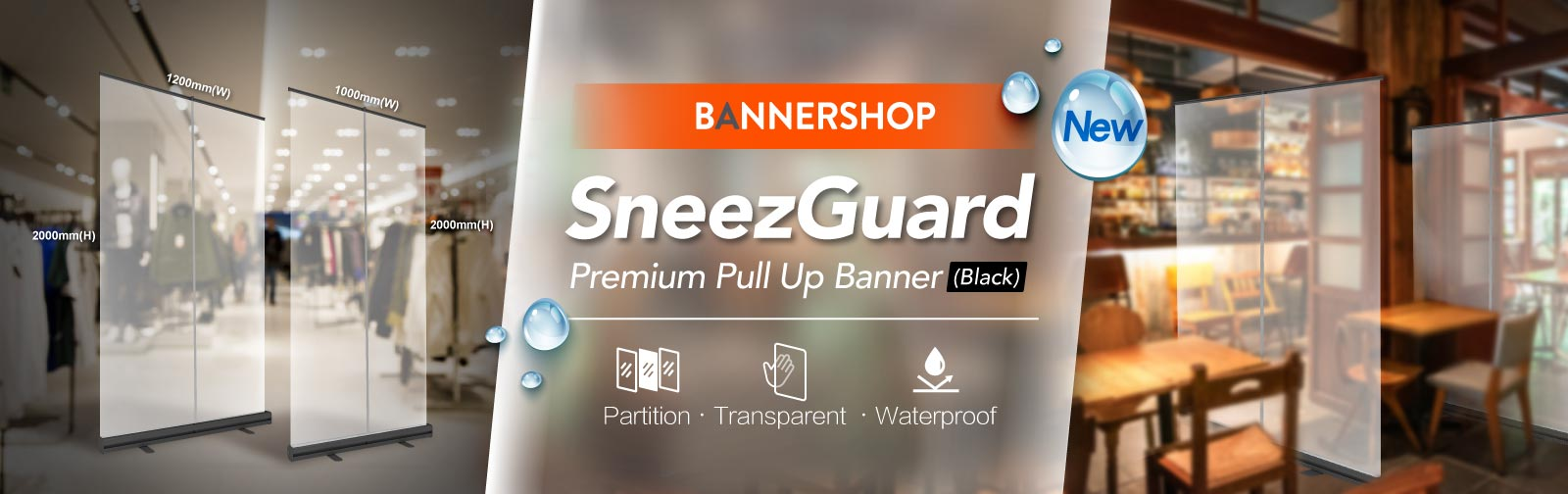 SneezGuard Pull Up Banner, Pull Up Banner Design, Pull Up Banner Size, Pull Up Banner Printing, Roll Up Banner